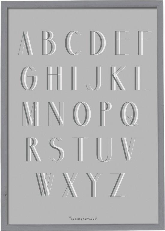 cb0be442 bol.com   Bloomingville - Tekstbord - Alfabet - Hout/Plexiglas - Grijs