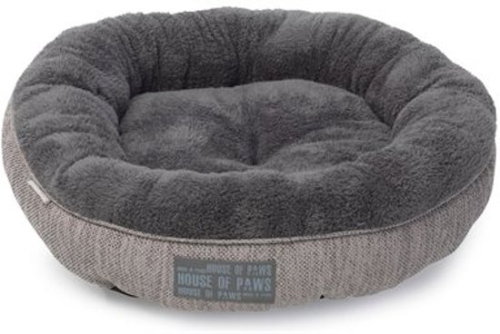 House of paws kattenmand donut hessian grijs 51 cm