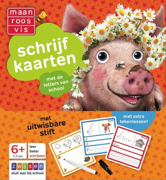 Boek cover Maan Roos Vis - Schrijfkaarten 6+ van  (Onbekend)
