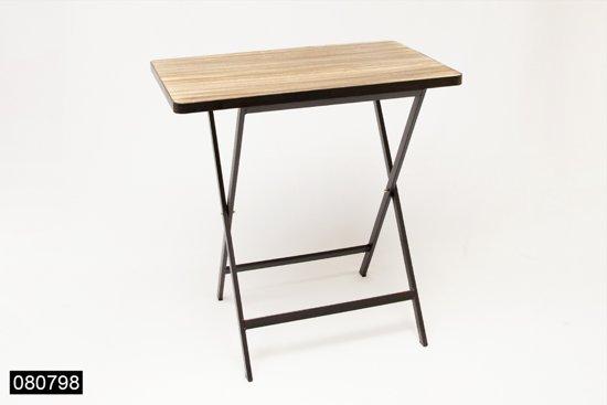 Klaptafel hout metaal 58 5x38x61cm - Klaptafel ...