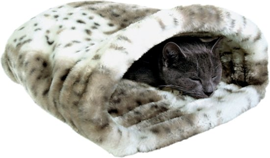 Trixie Relax Slaapzak Leika Kattenmand - Pluche - Beige/Wit - 25 x 27 x 45 cm