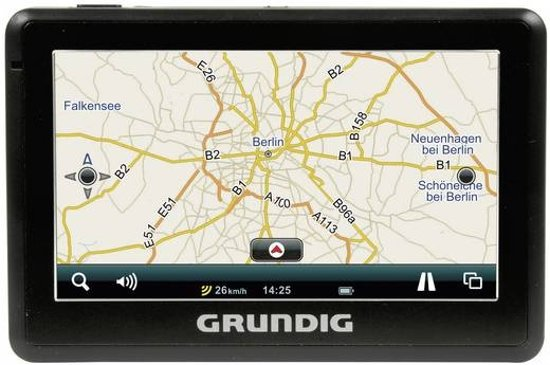 grundig navigatiesysteem gps m5 5 inch zwart. Black Bedroom Furniture Sets. Home Design Ideas