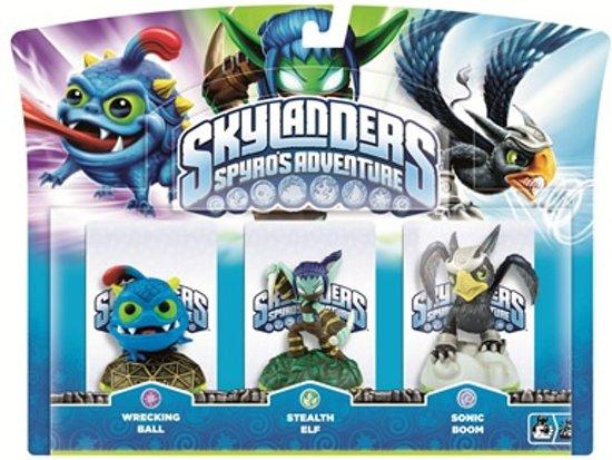 Skylanders Spyro's Adventure: Triple Pack Stealth Elf, Wrecking Ball, Sonic Boom