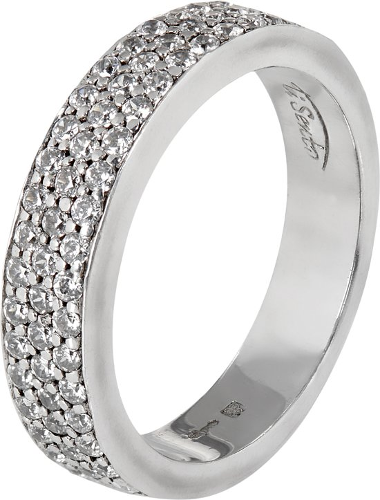 TI SENTO Milano Ring 1401ZI - Maat 52 (16,5 mm) - Gerhodineerd Sterling Zilver