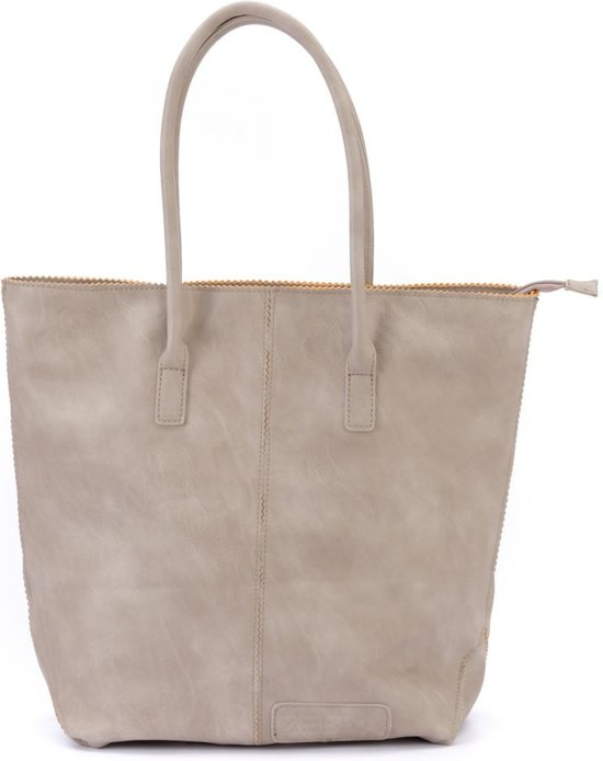 Zebra Trends Natural Bag Kartel - met Rits - Grey