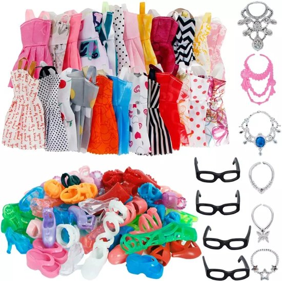 Modepoppen kleertjes (30 stuks geschikt voor Barbie)