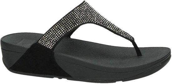 FitFlop Slinky Rokkit slippers dames zwart/zilver