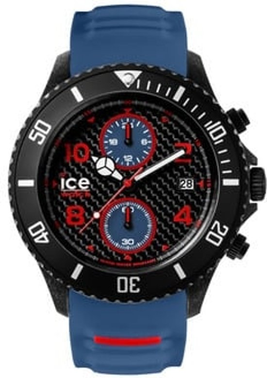 Ice-Watch ICE Carbon  IW001315 Polshorloge - Siliconen - Wit - Extra Large -  Ø53 mm