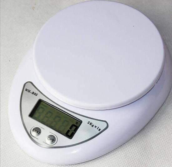 Keukenweegschaal - digitale keukenweegschaal - tot 5 kg - voor afwegen van ingrediënten - DisQounts