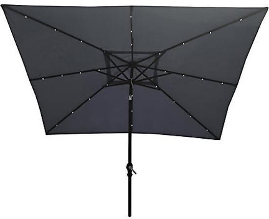 bol.com | SenS-Line parasol met LED verlichting vierkant 270x210cm.