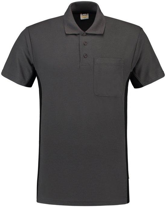 Tricorp Poloshirt Bi-Color - Workwear - 202002 - Donkergrijs-Zwart - maat XL