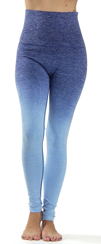 Met Yoga LeggingCompressie Donkerblauw Hoge Taille M Ombre H2IE9WD