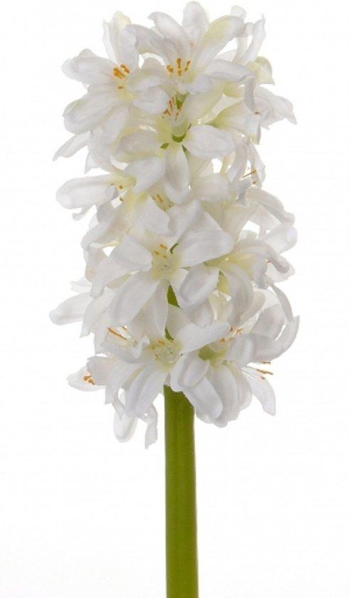 Witte hyacint kunstbloem 30 cm
