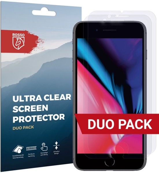 Rosso Apple iPhone 6(s) / 7 / 8  Ultra Clear Screen Protector Duo Pack in Dintelsas
