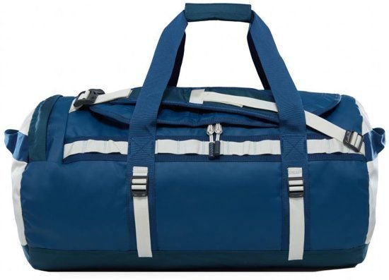 The North Face Base Camp Duffel Reistas M - 69 L - Blue Wing Teal / Vintage White - vernieuwd model