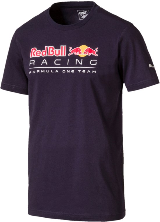 PUMA Red Bull Racing Logo Tee Shirt Heren - Night Sky
