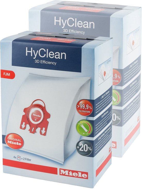 Miele HyClean 3D Efficiency FJM 2-pack - Stofzuigerzakken in Vezin