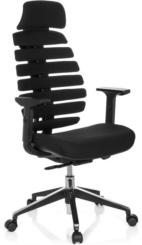 hjh office Ergo Line II Pro - Bureaustoel - Stof - Zwart