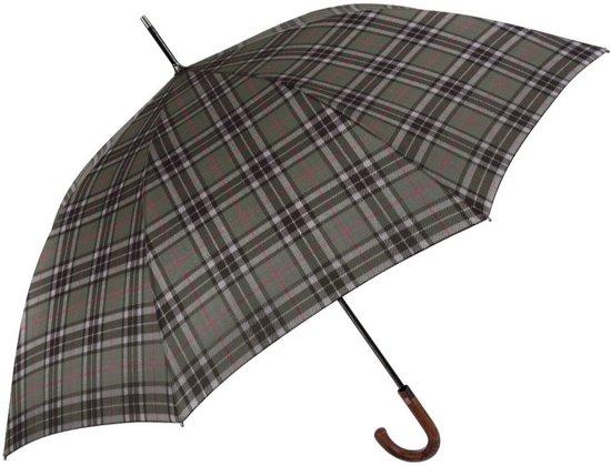 Perletti Paraplu Schotse Ruit 95 X 120 Cm Microfiber Groen