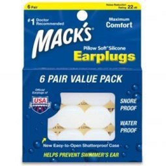 Macks Earplugs - Pillow Soft Silicone  - Oordoppen -   6 paar