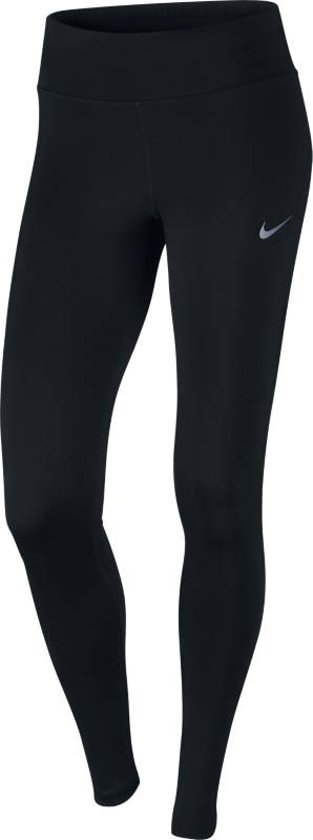 Nike Power Essential Tight DriFit Sportbroek Dames - Black/Black/(Reflective Silv)