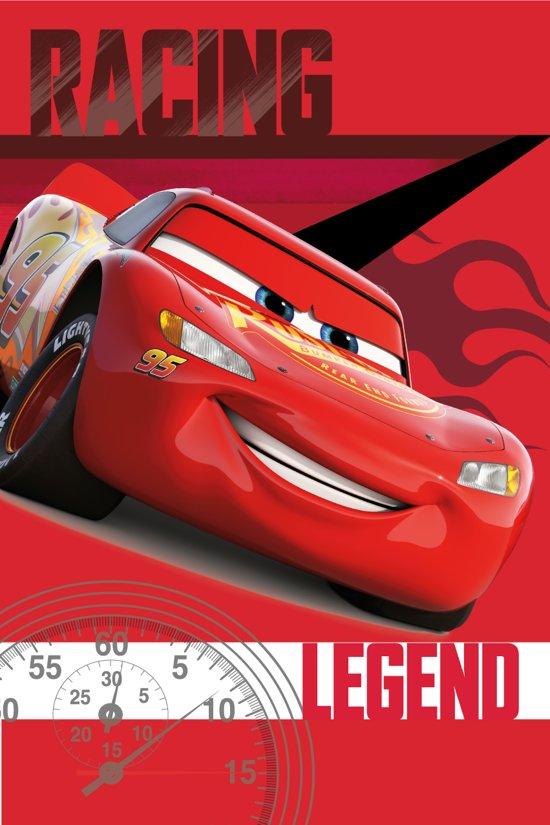 Disney Cars Racing Legend Fleeceplaid - 100 x 150 cm - Rood