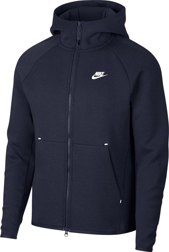 4c0dfeb25293 Nike MSW Tech Fleece Hoodie Fz Vest Heren - Obsidian (White) - Maat