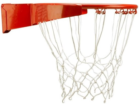 New Port Basketbalring Met Veer Smal Rim Pro Oranje