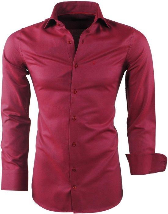 Rood Heren Overhemd.Bol Com Montazinni Heren Overhemd Oxford Bordeaux Rood