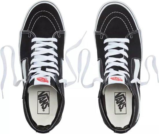 Sneakers hi wit Vans Zwart 36 Sk8 Unisex Maat qaw6EPg6U