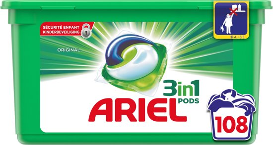 Ariel 3in1 Pods Original - 108 stuks - wasmiddel capsules