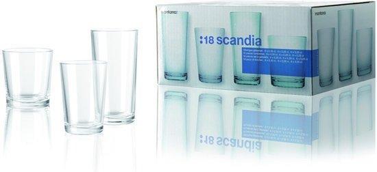 Montana Scandia glazenset - 18 delig - 6 Longdrinkglazen 6 waterglazen en 6 sapglazen