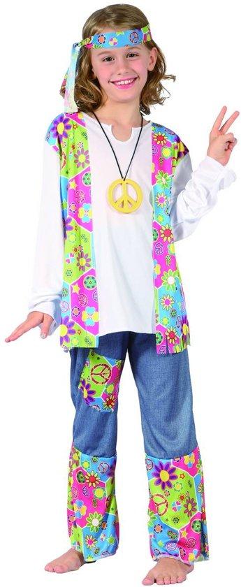 Flower Power kostuum voor meisjes  - Kinderkostuums - 140/152