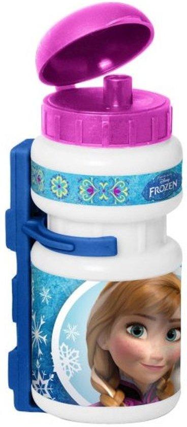 Disney Bidon Met Bidonhouder Frozen Wit/roze/blauw 500 Ml