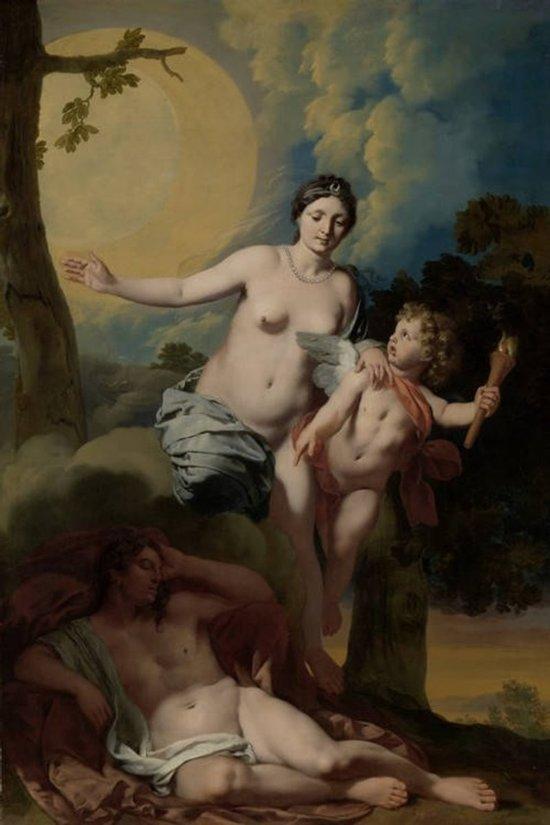 Gerard de Lairesse : Selene en Endymion (1680) Canvas Print