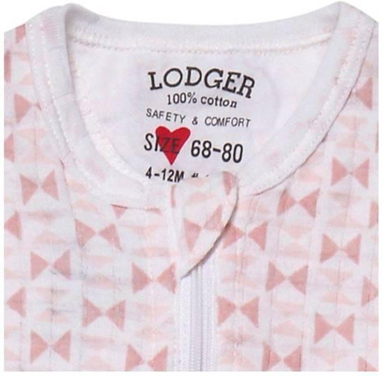 Lodger Baby slaapzak - Hopper Solid - Roze/lichtroze - Lange mouw - 68/80