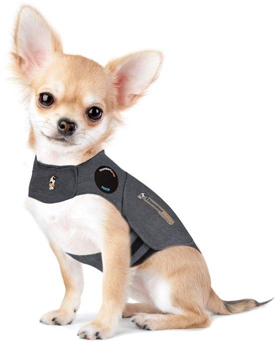 Thundershirt Antistress Vest - Natuurlijk middel tegen vuurwerkangst - Hond - Grijs - XXS - 22-33 cm