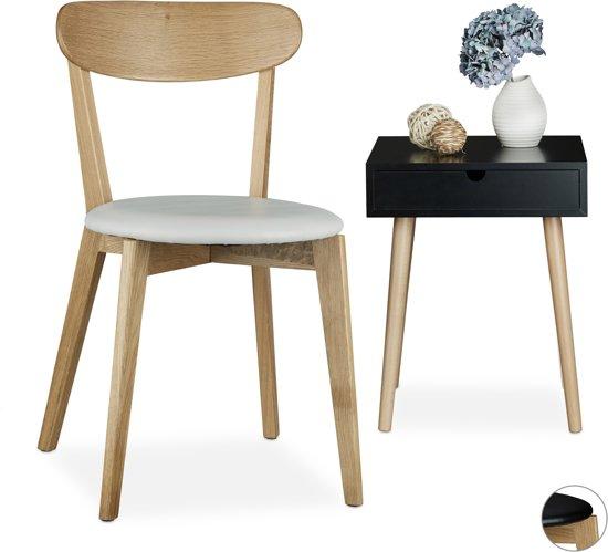 bol.com   relaxdays - eiken eetkamerstoel - kunstleer - stoel keuken ...