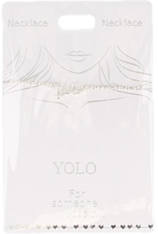 Ketting Yolo, silver plated