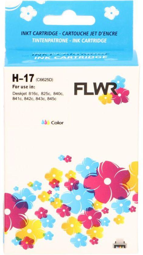 FLWR - Inkcartridge / 17 / Kleur - Geschikt voor HP