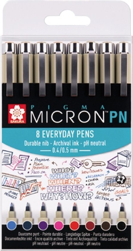 Sakura Pigma Micron PN - 8 kleuren/stuks
