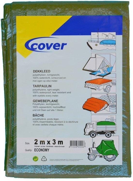 Cover Dekkleed PE Economy groen 100 gr/m² 4x6m