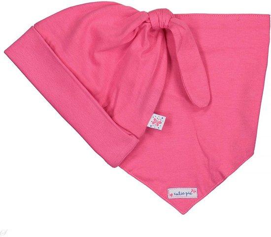 Blue Seven Muts met sjaaltje Cutie pie roze  -  Maat  56