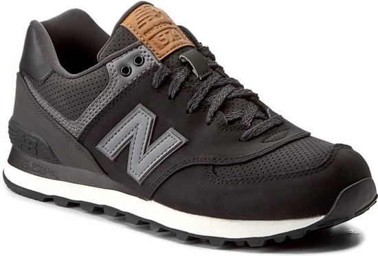 New Balance 574 Classics Traditionnels Sneaker Heren Sportschoenen - Maat  44.5 - Mannen - zwart/grijs