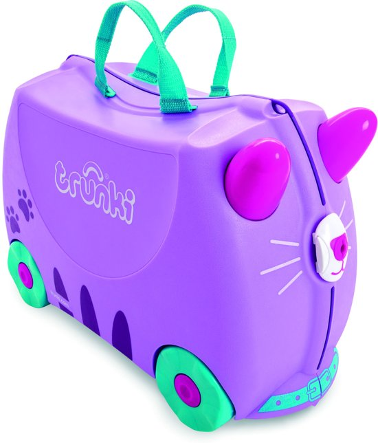 Trunki Ride-on Cat Cassie Kinderkoffer - 46 cm - Paars