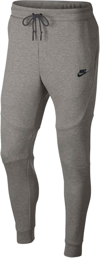 Nike Nsw Tech Fleece Joggingbroek Heren - Dk Grey Heather/Black/(Black) - Maat M