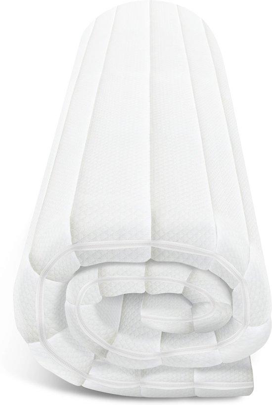 Topdekmatras - 80x200 - traagschuim - premium tijk - 5 cm hoog