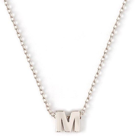 Orelia letter ketting M zilverkleurig