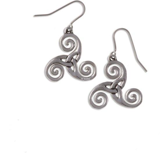 Bolcom Triscele Oorbellen Keltische Symbol Oorbellen