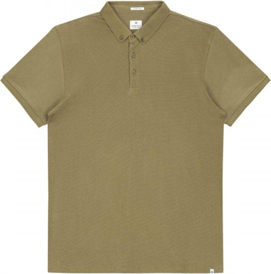 Dstrezzed Polo Honeycomb Jersey Stretch Army Groen (202356 - 511) - XL